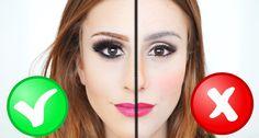 ERROS X ACERTOS Piores Erros em Maquiagem!