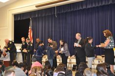 Pomeroy D.A.R.E. graduation attended by SCPD Chief Michael Sellers and command staff, Santa Clara School Board President Albert Gonzales and his board members, and Pomeroy principal Tricia Ringel who presented graduates with gifts and handshakes.