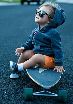 Little boy skate style.