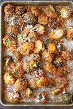 These parmesan brussel sprouts are crisp-tender and so crunchy! A must have side-dish for meals this fall.