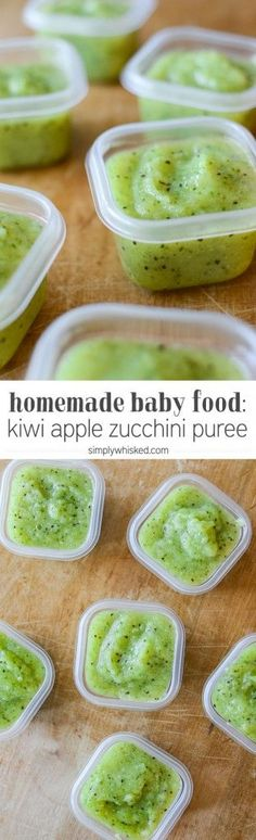 Handmade Baby Food: Kiwi apple Zucchini puree