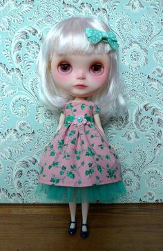Gorgeous Mint and Pink Ivy Dress and Petticoat Set by MissMilupka, $22.00