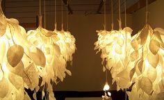 Paper lighting Match Lovely Paper Leaf Hanji Lights From Iwashin Korea Based Design Firm Pinterest 134 Best Paper And Twig Lighting Sculpture Images Night Lamps