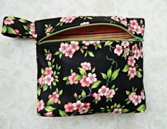 Cosmetic Case Bag Purse Pouch Tote  READY TO SHIP by CyndeesGarden, $12.50