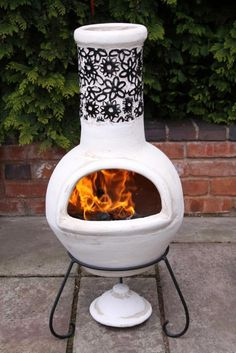 Delightfully cozy clay! Check out these beautiful and easy to use firepit options for the home