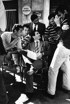 """Director Pier Paolo Pasolini on the set of  """"Accattone"""" 1961 - Italy"""