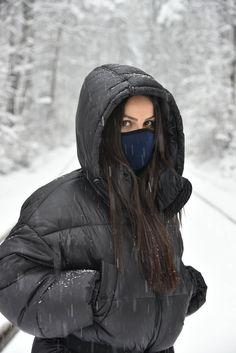 Face Mask with Filter/Dark Blue Mask/Face Washable Mask/Reusable Activity Mask/Activity Mask/Dust Face Mask/Neoprene Kpop Face Mask, Cute Fashion, Women's Fashion, Kids Gown, Blue Mask, Instagram Pose, Selfies, Filter, Dark Blue