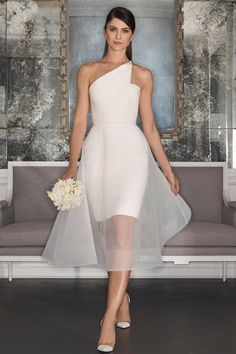 Romona Keveza's two collections shown at New York Bridal Fashion Week were full of timeless elegance, luxury and structure juxtaposed with softer, more romantic silhouettes (BridesMagazine.co.uk)