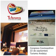 Ha empezado el Congreso Cosmopolitan y las #experiencias #Tuhistoria estarán presentes en el workshop que se celebrará esta tarde en #Málaga. #AlcalálaReal, #Antequera, #Écija, #Lucena y #PuenteGenil @viveandalucia @andalucianetwork