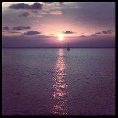 Playa en La Manga del Mar Menor, una maravilla #atardecer