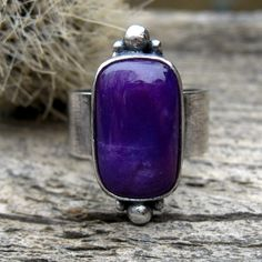 Royal Purple Sugilite Sterling Silver Ring  by LisasLovlies, $82.50