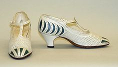 Shoes 1920, French, Made of leather