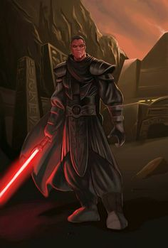 A commission of Lilikka's Star Wars: The Old Republic Sith, Krynna. Commission Information Star Wars Jedi, Star Wars Rpg, Star Wars Characters Pictures, Star Wars Images, Jedi Sith, Sith Lord, Sith Pureblood, Sith Costume, Sith Warrior