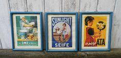 3 Werbe - Bilder vintage von Gerne Wieder.GbR auf DaWanda.com