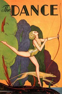 1920 Varga Love Dance Art Deco Poster Pin Up Greyhound