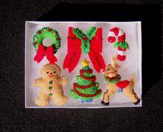 Set of 6 Handmade Sequined Felt Christmas by AppliqueB4Christmas