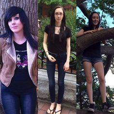 I'll probably get unfollowed by some people for the non food pic but oh well  // I have been at both extremes. On the far left was a couple years ago- I hated how I looked and had a long past of severe depression and anxiety. I would 'eat my feelings' always gorging on processed muffins cakes pies candy you name it. The middle picture was not at my lowest I was eating far more here believe it or not. I still hated how I looked- proof that being thin will never make you happy and you'll want…