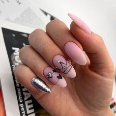 Dream Nails, Love Nails, Pink Nails, Pretty Nails, Gorgeous Nails, Color Nails, Heart Nail Art, Heart Nails, Valentine's Day Nail Designs