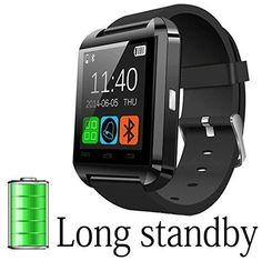 A8 POWER U8 Bluetooth Watch Smart Wristwatch Phone Mate for Smartphones IOS Apple Iphone Android Samsung S2/s3/s4/s5/note 2/note 3 HTC (Black)