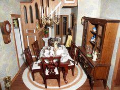 Hallway/Dining Room - Beacon Hill dollhouse rooms