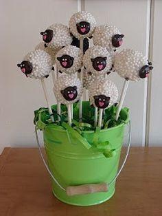 Sheep Cake Pops tinkerbell1769