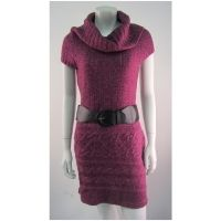 E-vie Polo Neck Knit Tunic With Belt in just £5.50  see complete details here http://www.wholesalepages.co.uk/special-offers/deals/e-vie-polo-neck-knit-tunic-wit-920275.html