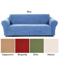 @Overstock - This Snowball slipcover is designed to stretch in all directions to conform to the size of your upholstered furniture. Constructed of textured velour, this slipcover has a luxurious look and feel.http://www.overstock.com/Home-Garden/Snowball-Stretch-Sofa-Slipcover/5316452/product.html?CID=214117 $63.99