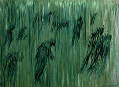 Framed States of Mind - Those that Stay (Stati d'animo, Quelli Che Restano) Print Post Impressionism, Impressionist, Emerald Green Decor, Umberto Boccioni, Modern Art, Contemporary Art, Futurism Art, Italian Painters, New Art