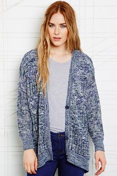 Staring at Stars Ladder Pointelle Cardigan at Urban Outfitters