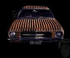 Jeff Thomson corrugated iron  Holden stationwagon