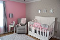 Would be even better in a soft pale pink. A pink and gray chic nursery featuring many DIY projects.