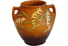 """Roseville Freesia Vase 10"""" x9"""" x 9""""  $450.00 on OneKingsLane.com"""