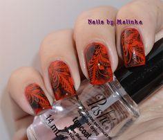 Nails by Malinka: Red and black