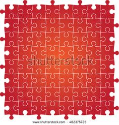 red jig saw puzzle