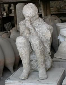 The human casts in Pompeii are devastating and fascinating at the same time. It makes me want to stare and look away all at the same time.