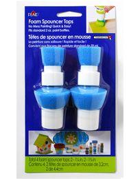 "Plaid ® Art Materials - Bottle Tops - Spouncer Painters    Size: Set of 4  Design Size: Two 1-1/4"", Two 1-3/4"""