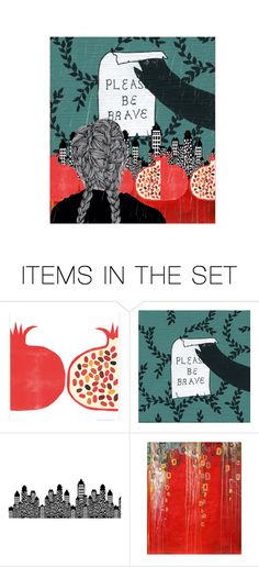 """""""bear hunt"""" by bapiep ❤ liked on Polyvore featuring art"""