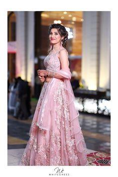 "Photo from WhiteCheez Photography ""Brides's Shot"" album Saree Gown, Lehenga Saree, Lehenga Wedding, Indian Wedding Outfits, Wedding Preparation, Bridal Looks, Wedding Shoot, Her Style, Pose"
