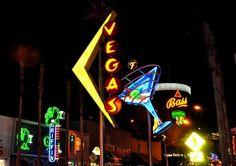 Fremont Street Downtown Las Vegas by: Robert Swetz