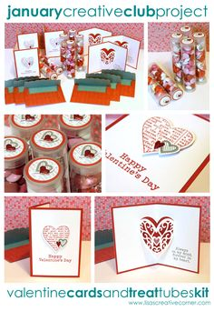 Lisa's Creative Corner: Valentine Pop-Up Cards and Treat Tubes Kit