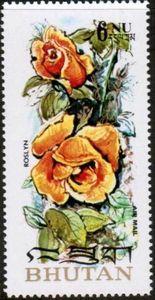 Sello: Roslyn (Bután) (Roses) Mi:BT 549A,Sn:BT 150D,Yt:BT PA123