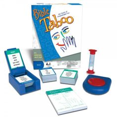 A Hasbro family favorite in a Christian version, Bible Taboo. An obvious clue could be strictly TABOO  To get your team to say MOSES would you say, PRINCE, EGYPT, PLAGUES, PHAROAH, or COMMANDMENT? In this game you can't because all of those words are strictly TABOO