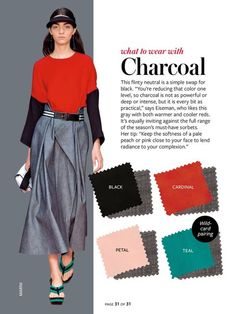 Spring/Summer: Color Charts from InStyle Magazine red Colour Combinations Fashion, Color Combinations For Clothes, Fashion Colours, Colorful Fashion, Color Combos, Fashion Mode, Fashion Tips, Fashion Design, Deep Winter Colors