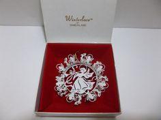Vintage Tamerlane WINTERLACE ANGEL Metal Ornament MIB #15152 #Tamerlane