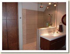 bertch showers | ReBath Mid-Florida | 445 West State Road 436 | Altamonte Springs, FL 32714 | (407) 926-1811 | facebook.com/rebathfl Bertch Cabinets, Altamonte Springs, Kitchen And Bath Design, Sink, Shower, Contemporary, Mirror, Bathroom, Florida