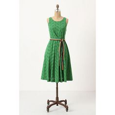 NWT Anthropologie Grass Court Dress Tennis Embroidered Cotton Dress Size 2 found on Polyvore