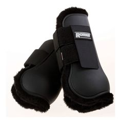 Roma Fleece Lined Open Front Boots Black Full