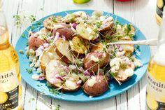 Gegrilde-aardappelsalade met pittige dressing - Recept - Allerhande - Albert Heijn