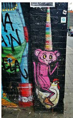 Crazy Monkey,  street art, Shoreditch April 2015