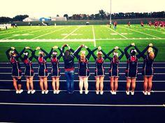 Cheerleading - brooke and friends football SHS cheer squad! Cheerleading Poses, Cheer Poses, Cheerleading Pictures, Cheer Stunts, Cheerleading Gifts, Cheer Camp, Football Cheer, Cheer Coaches, Cheer Dance
